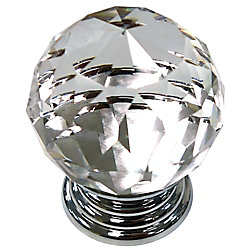 Richelieu Eclectic Acrylic and Brass Knob 1 9/16 in (39.5 mm) Dia - Fairview Collection