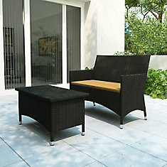 Cascade Patio Sofa And Coffee Table