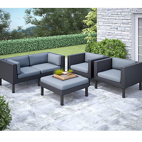 Oakland 5-Piece Patio Sofa and Chair Set