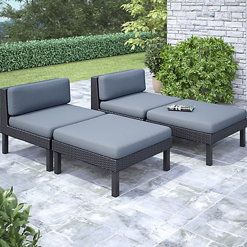 Oakland 4-Piece Lounger Patio Set