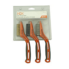 Ensemble de 3 mini brosses 1-1/8 x 2-1/4