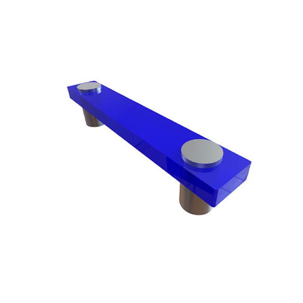 Contemporary Plastic Pull - Blue, Plastic - 76 Mm C. To C.