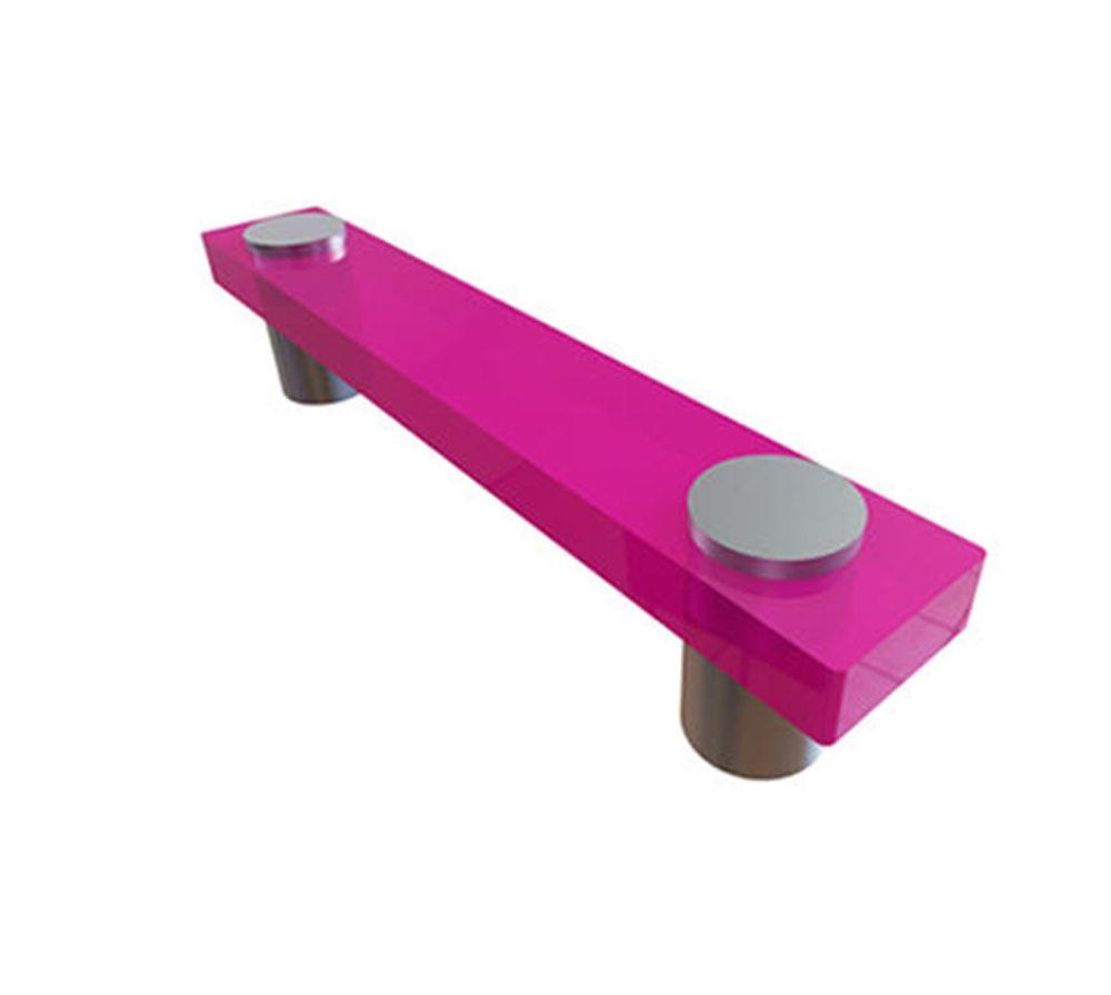 Contemporary Plastic Pull - Fushia, Plastic - 96 Mm C. To C.