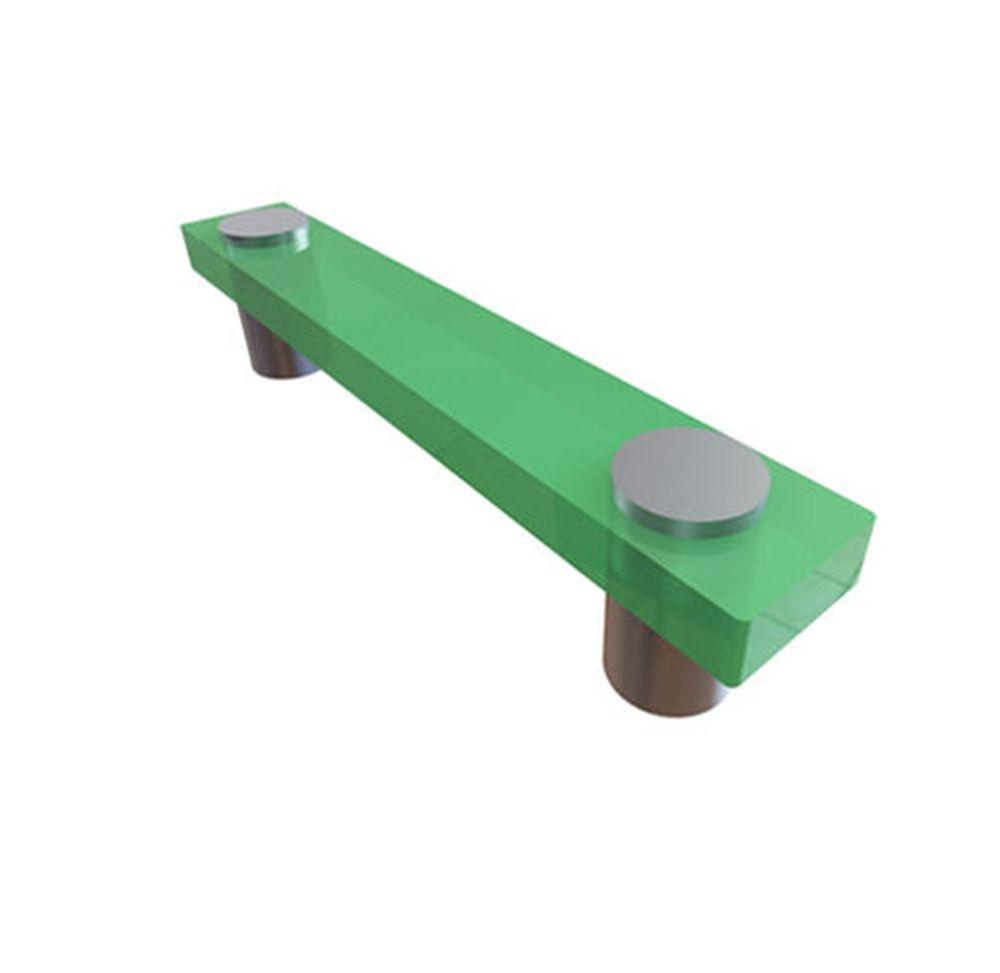 Poignée contemporain en plastique - Vert, Plastique - C. à C. 96 mm