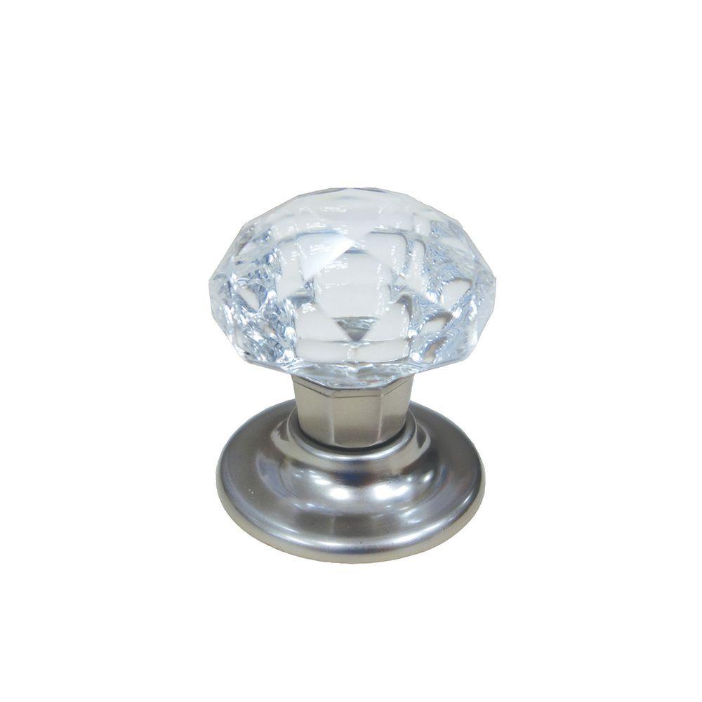 Classic Crystal Knob - Brush Nickel, Crystal - 35 Mm Dia.