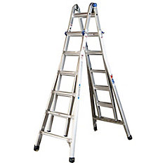 Aluminum Telescoping Multi-Purpose Ladder Grade 1A (300 lb. Load Capacity)- 26 Feet