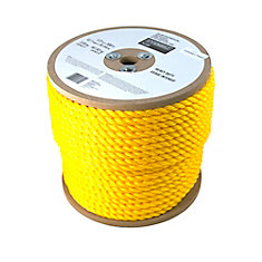 1/2 Inch  x 300 Feet  POLYPROPYLENE TWISTED YELLOW (Sold per Foot)