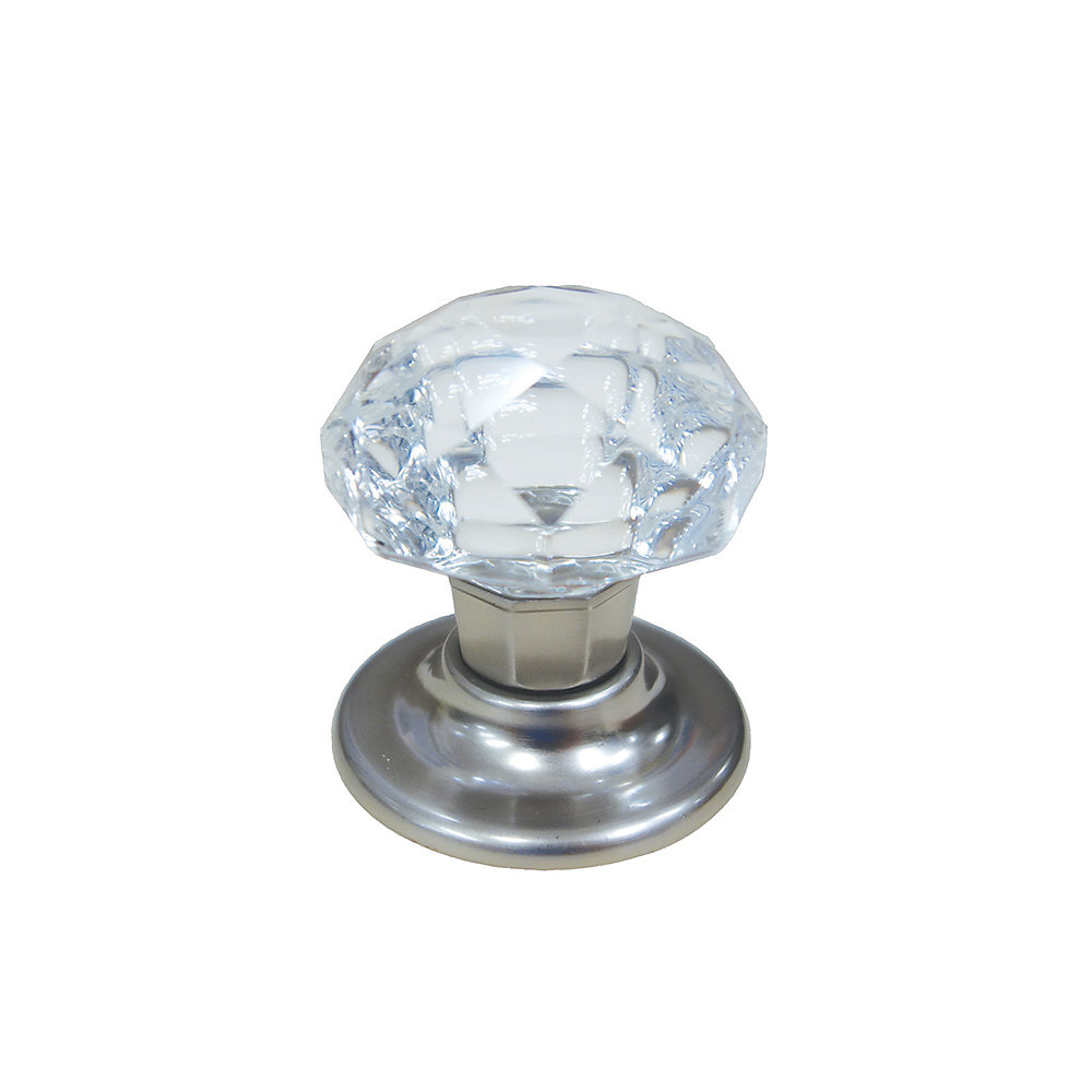 Bouton contemporain en cristal 1 25/32 in (45.5 mm) Dia - Fairview Collection