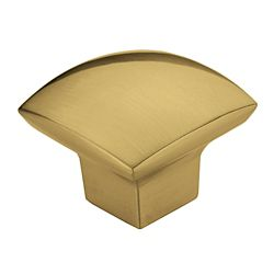 Richelieu Contemporary Metal Knob  Satin Brass - Weston Collection