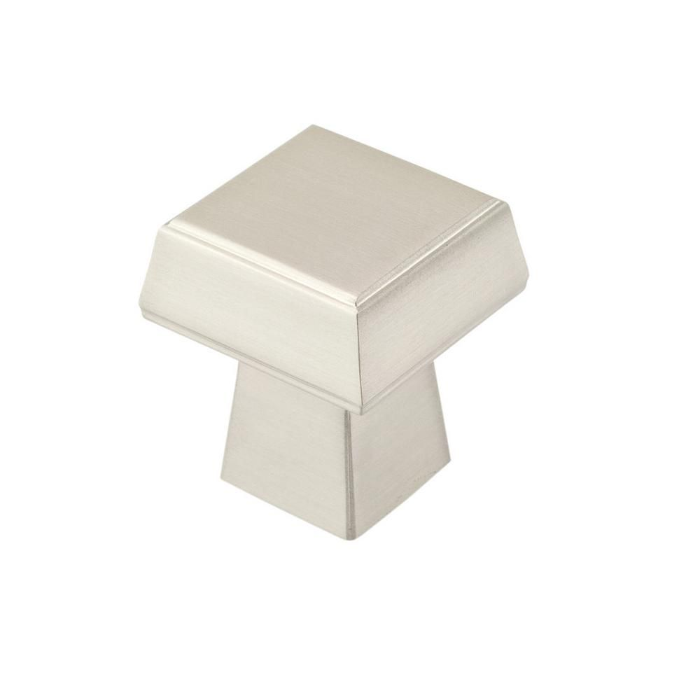 Contemporary Metal Knob - Brushed Nickel - 30 Mm Dia.