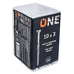 ONE SCREW 10X3inch. ONE MULTIPURPOSE SCREW 150-Piece