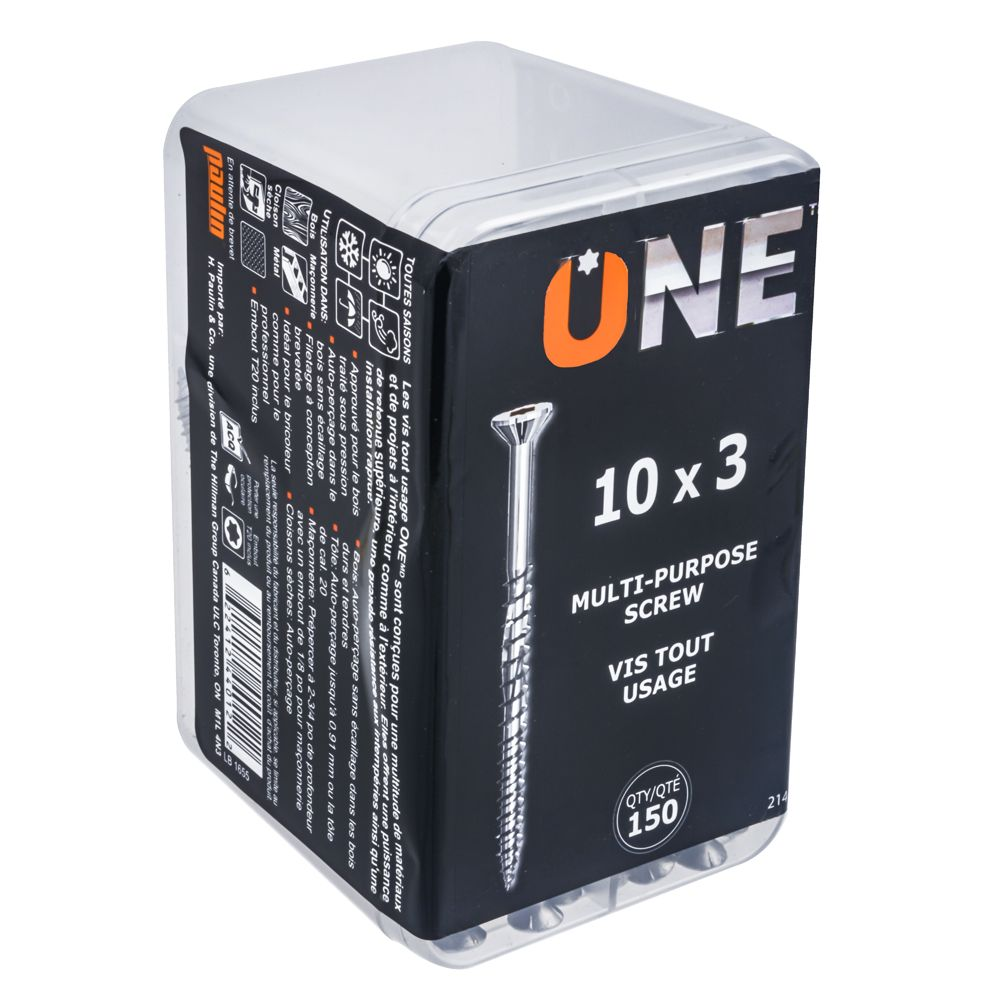 ONE SCREW 10X3inch. ONE MULTIPURPOSE SCREW 150 PC
