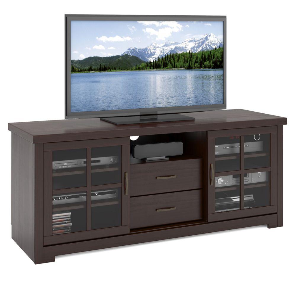 """TWB-692-B West Lake 60"""" Television Bench in Dark Espresso"""
