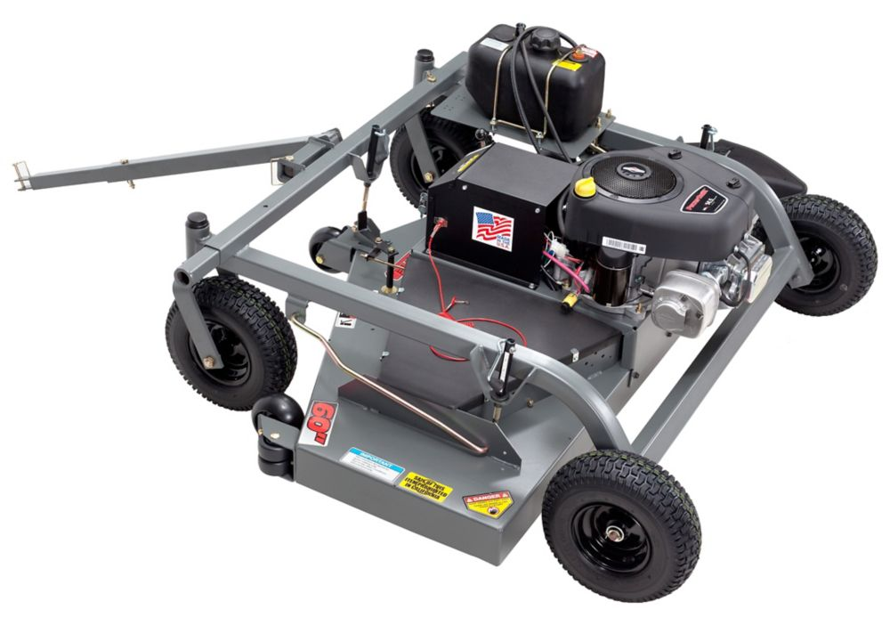 14.5 HP Tow Behind Grass Mower With 60 Inch. Cutting Deck