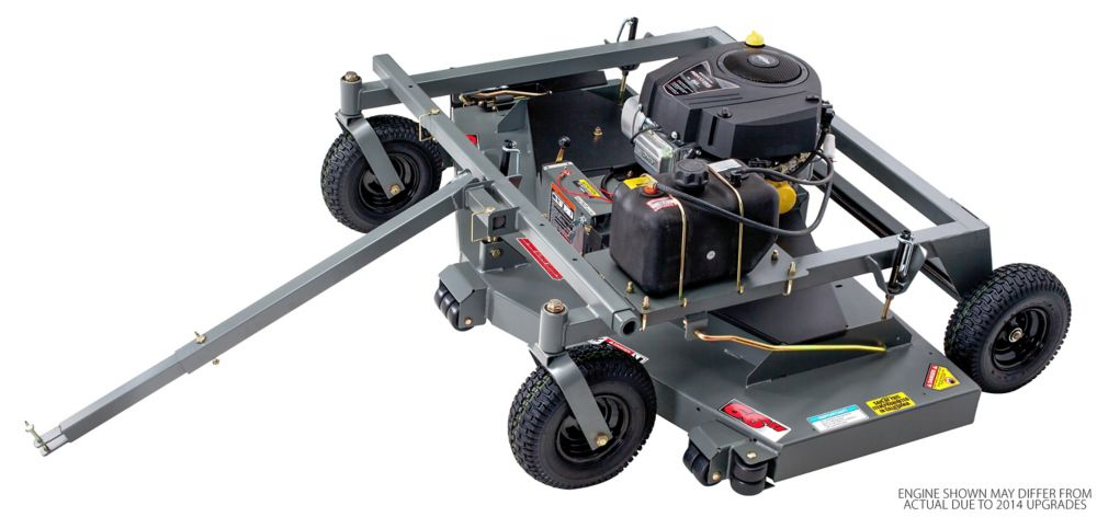 19 HP Tow Behind Grass Mower With 66 Inch.  Cutting Deck