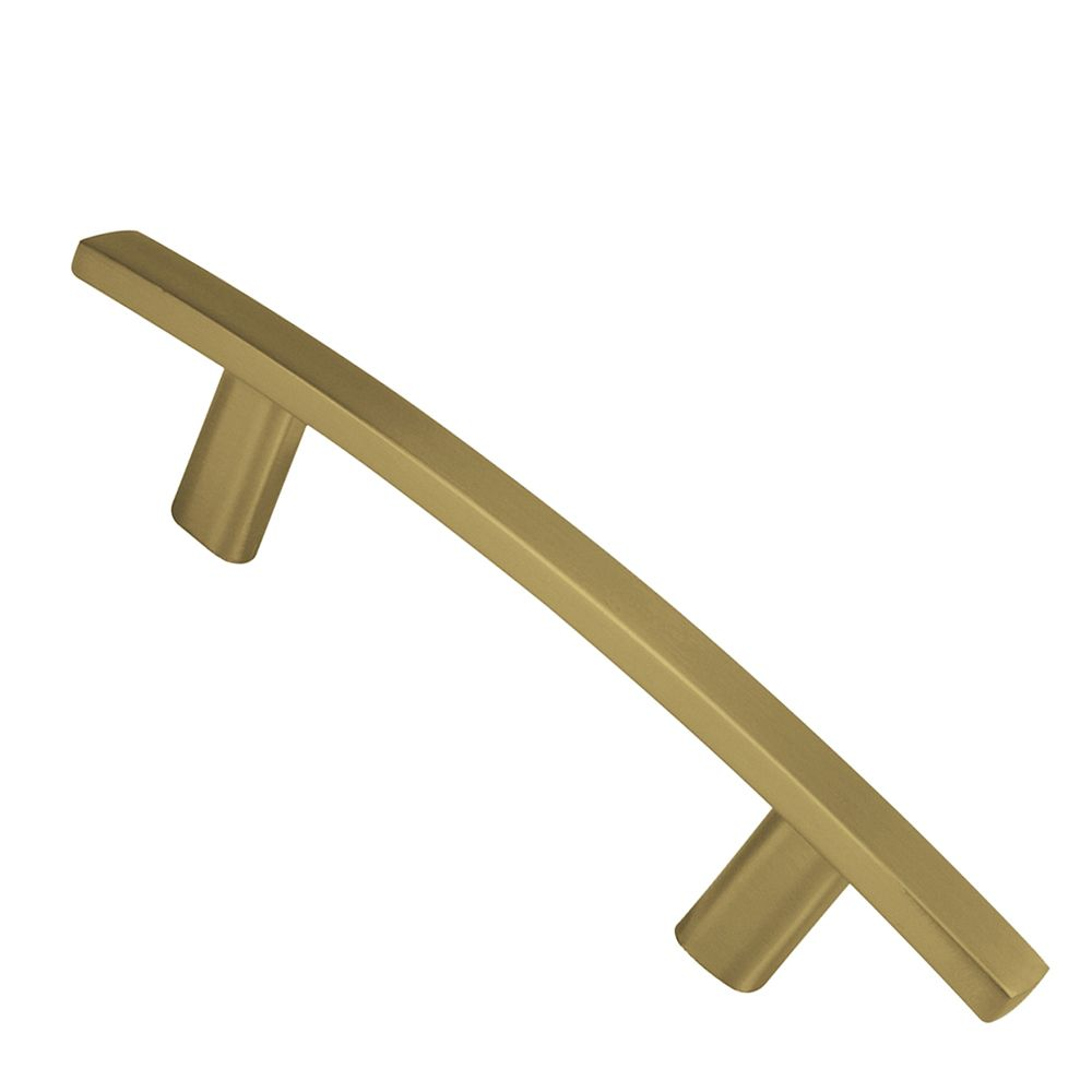 Contemporary Metal Pull - Satin Brass - 76 Mm C. To C.