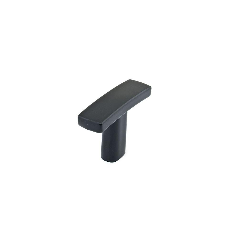 Bouton contemporain en métal - Noir mat - Dia. 38 mm
