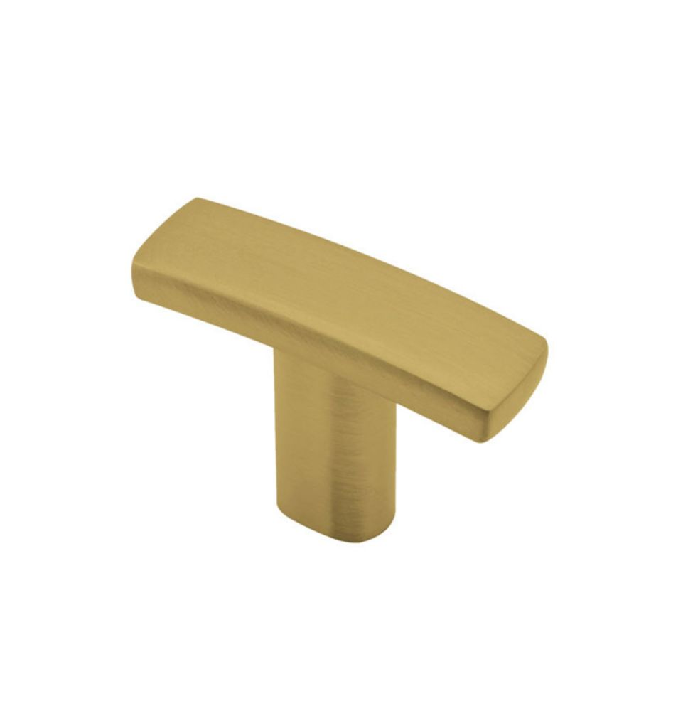 Contemporary Metal Knob - Satin Brass - 38 Mm Dia.