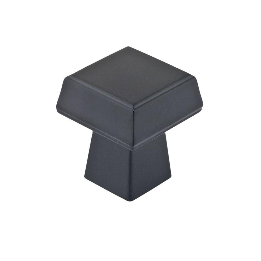 Bouton contemporain en métal - Noir mat - Dia. 30 mm
