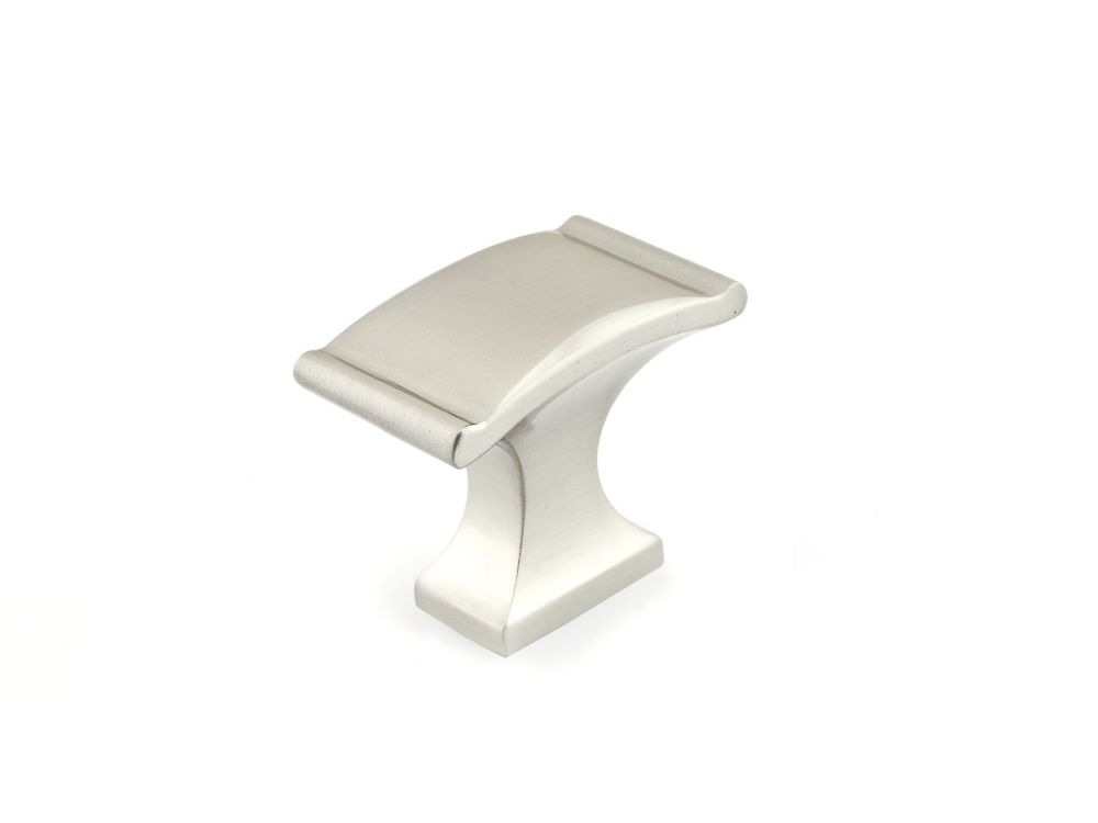 Classic Metal Knob - Brushed Nickel - 35 Mm Dia.