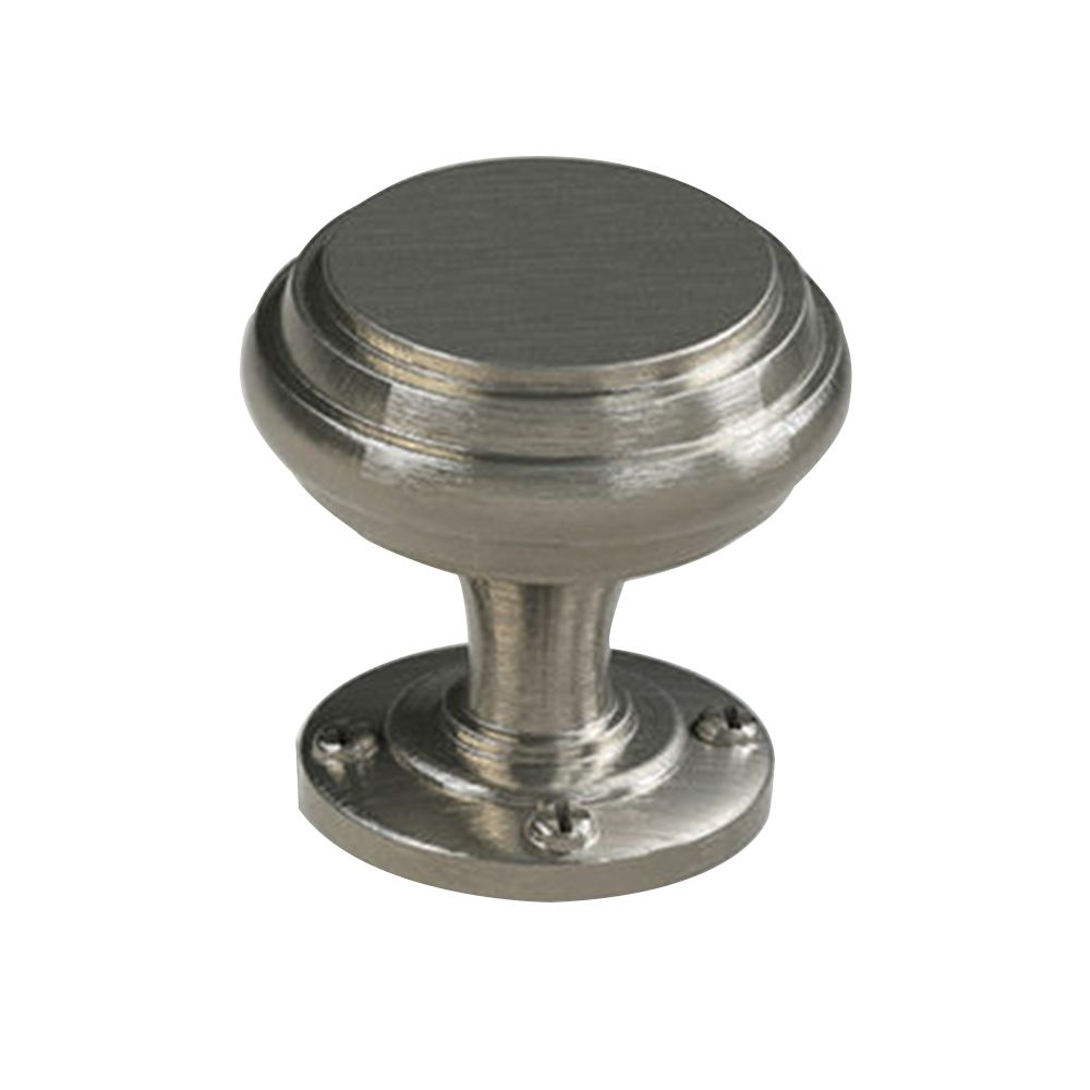 Contemporary Metal Knob - Brushed Nickel - 31 Mm Dia.