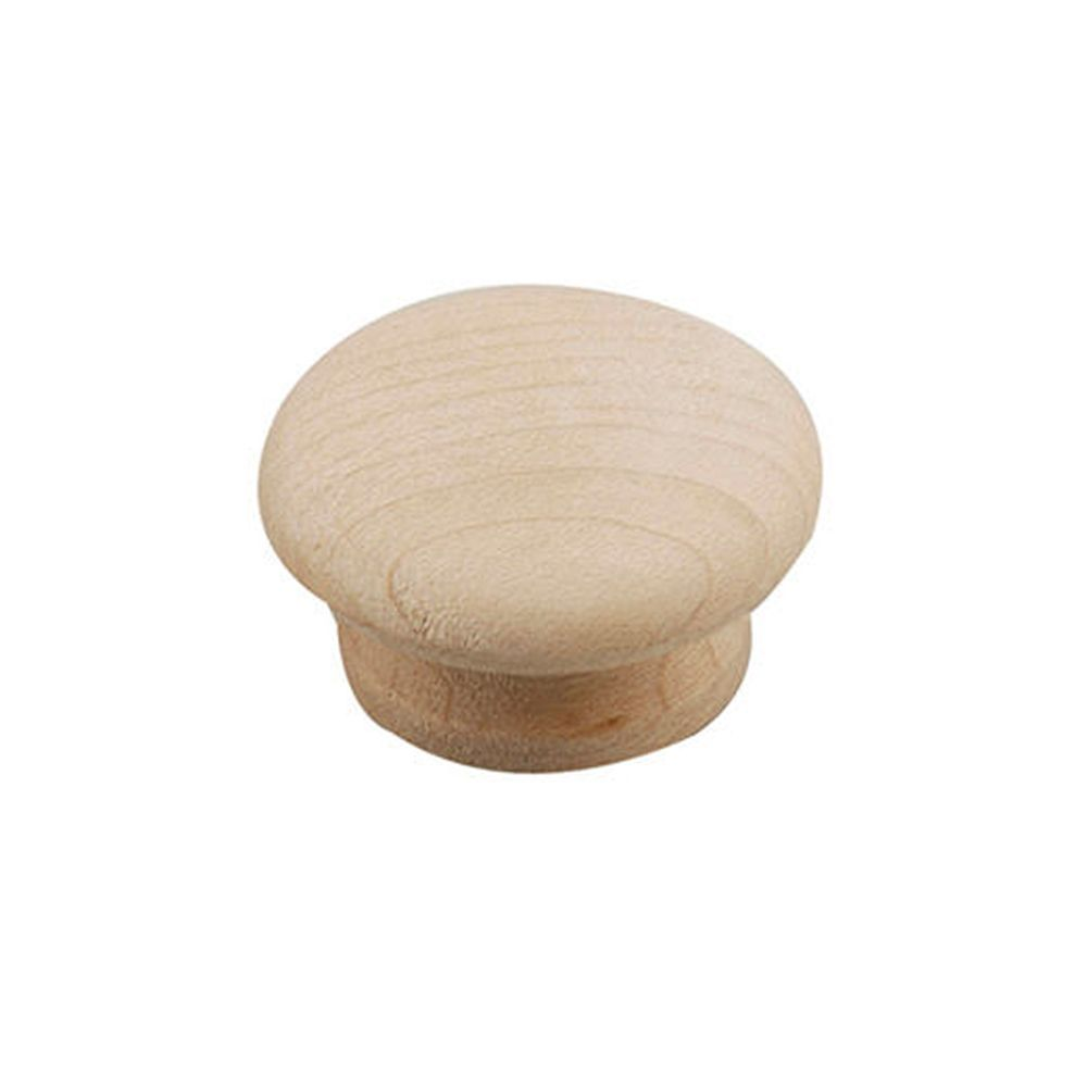 Classic Wood Knob - Unfinished Maple - 31,75 Mm Dia.