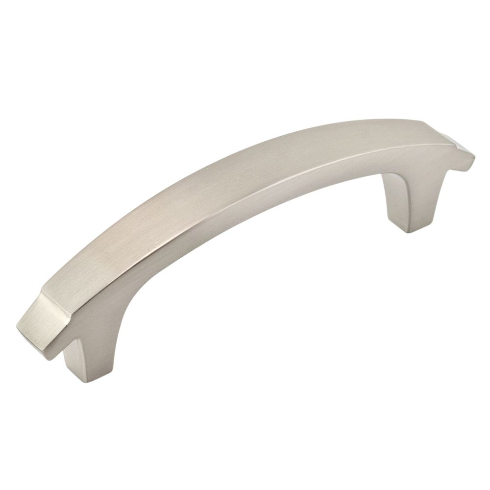Contemporary Metal Pull - Brushed Nickel - 76 Mm C. To C.