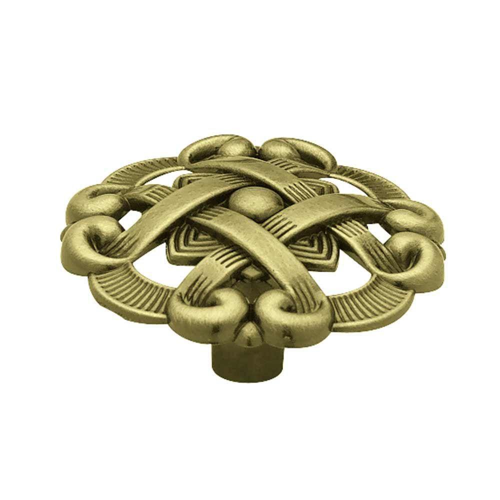 Liberty 1-1/2  Weave Pattern Round Knob, 1 per pkg