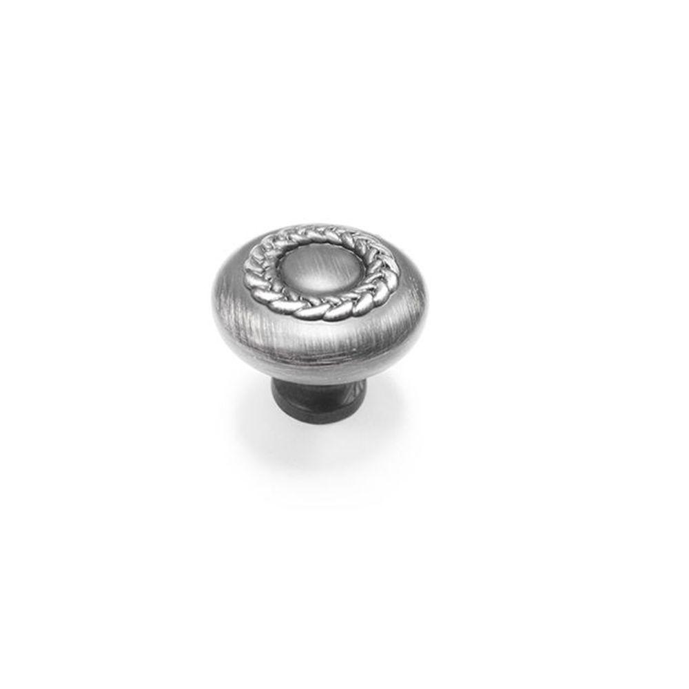 Classic Metal Knob - Brushed Nickel - 31 Mm Dia.
