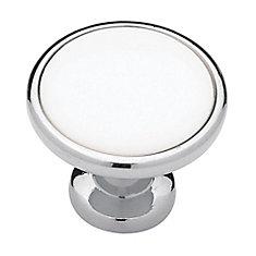 1-1/4  Ceramic Insert Knob, 1 per pkg