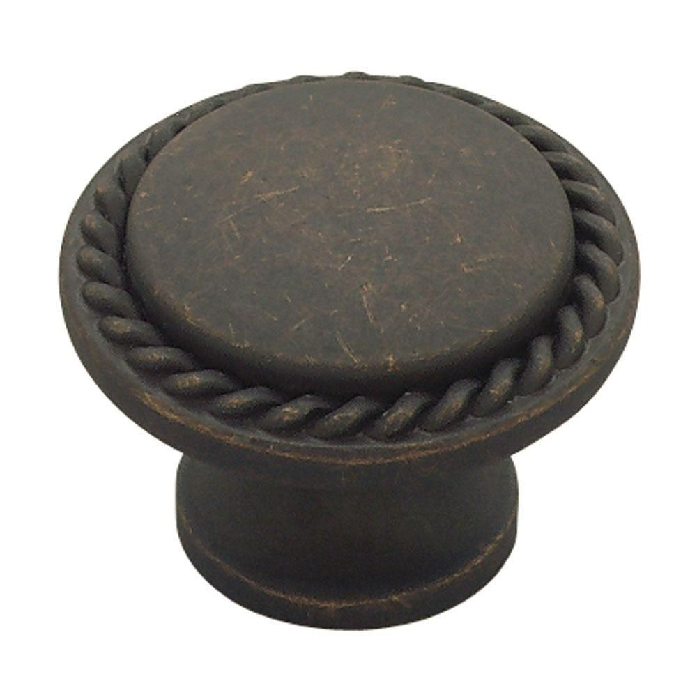 Liberty 1-1/8 Rope Edged Knob, 1 per package