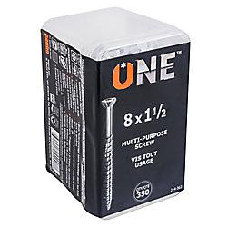 ONE SCREW 8X1.5inch. ONE MULTIPURPOSE SCREW 350-Piece