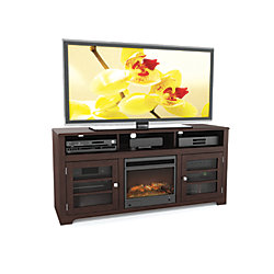 Sonax West Lake 60-inch Fireplace TV Bench in Dark Espresso