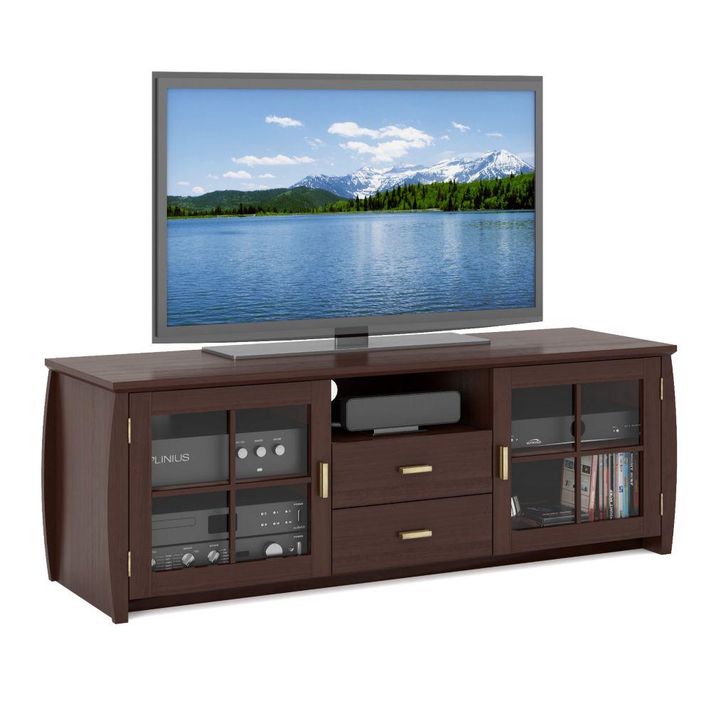 WB-1609 Meuble de TV de 59 po de la collection Washington en placage de bois