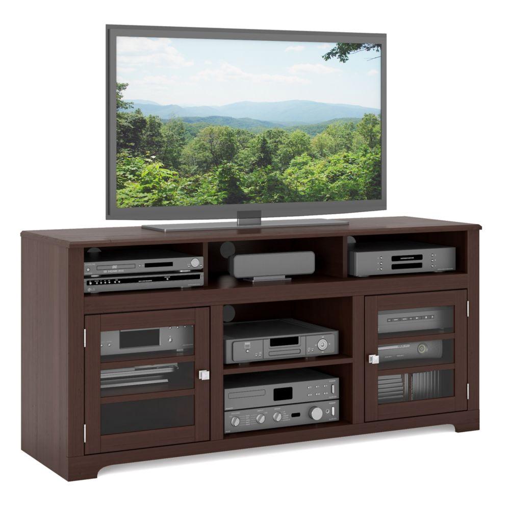 """E-9462-BW West Lake 60"""" Television Bench in Dark Espresso"""