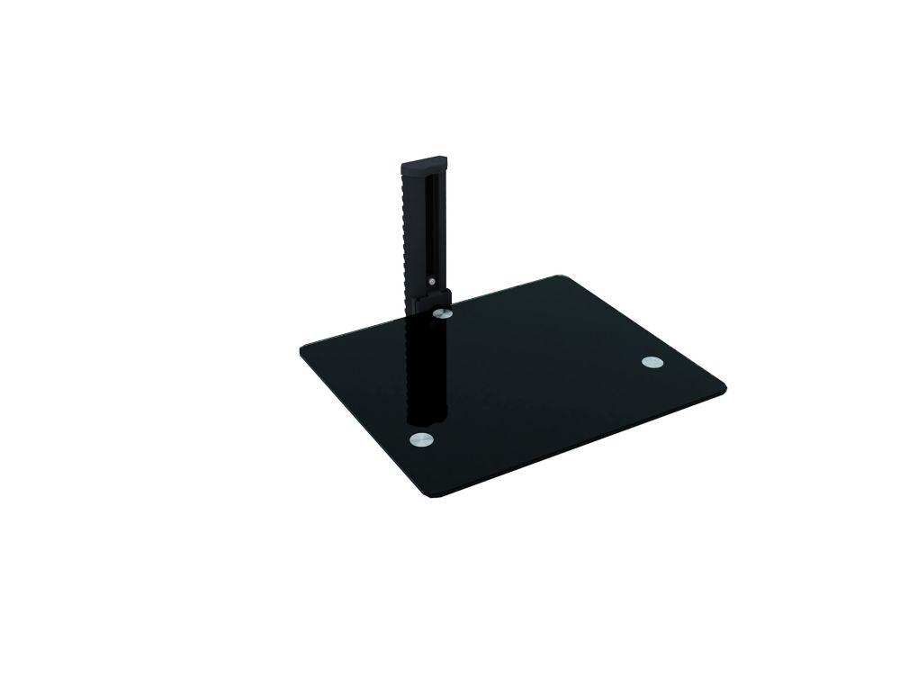 C-801-SCM Tablette murale noire pour accessoire unique