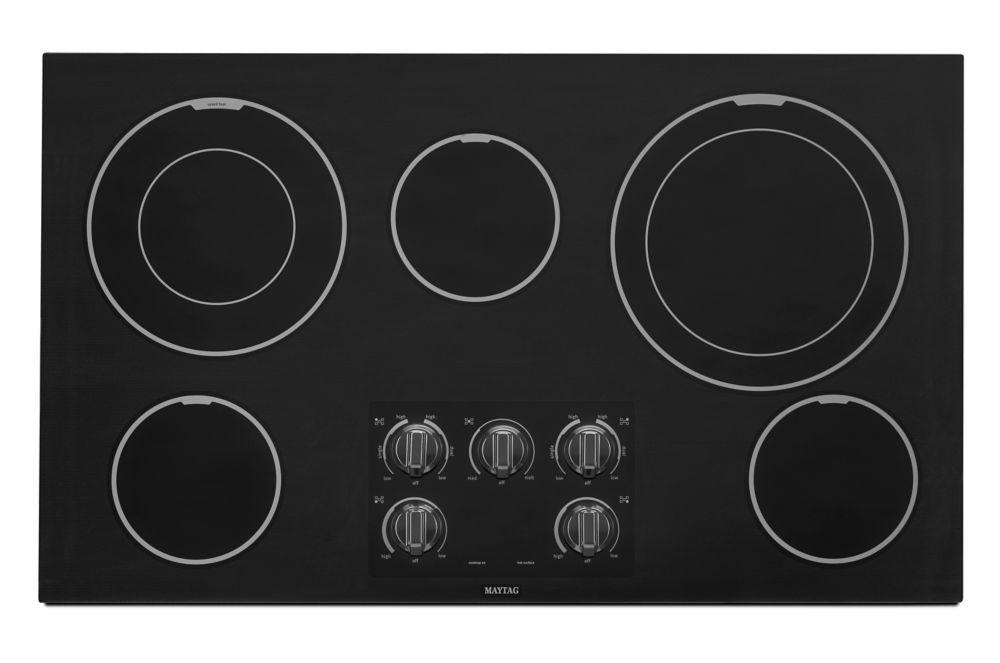 Surface de cuisson électrique de 36 po avec deux éléments Dual-Choice - MEC9536BB