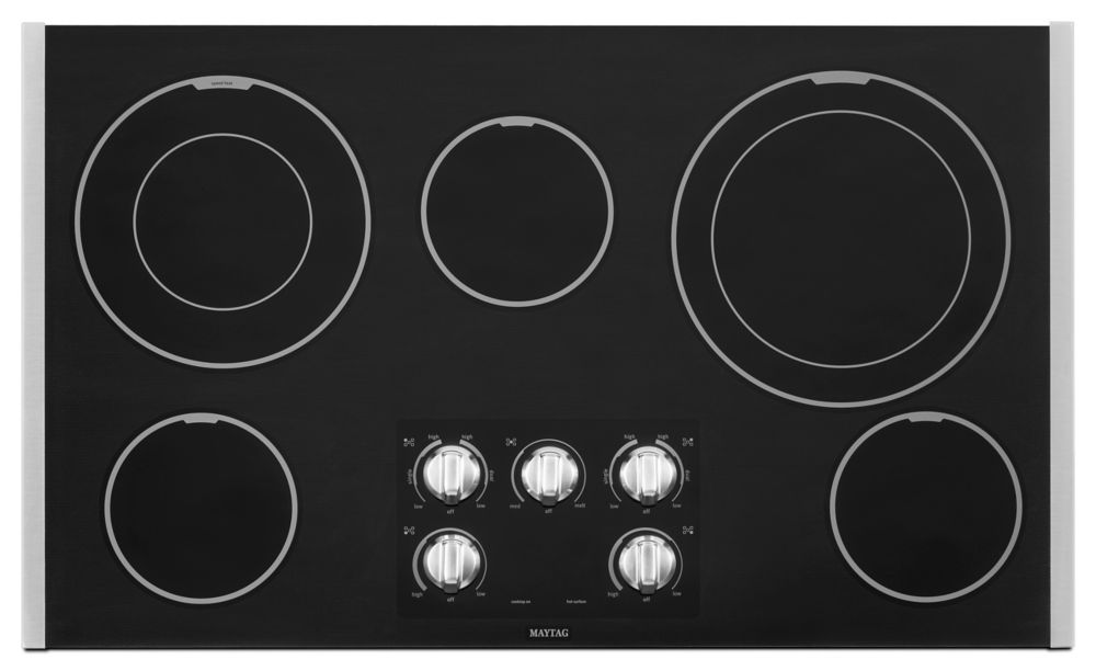 36-inch Electric Cooktop with Two Dual-Choice Elements in Stainless Steel