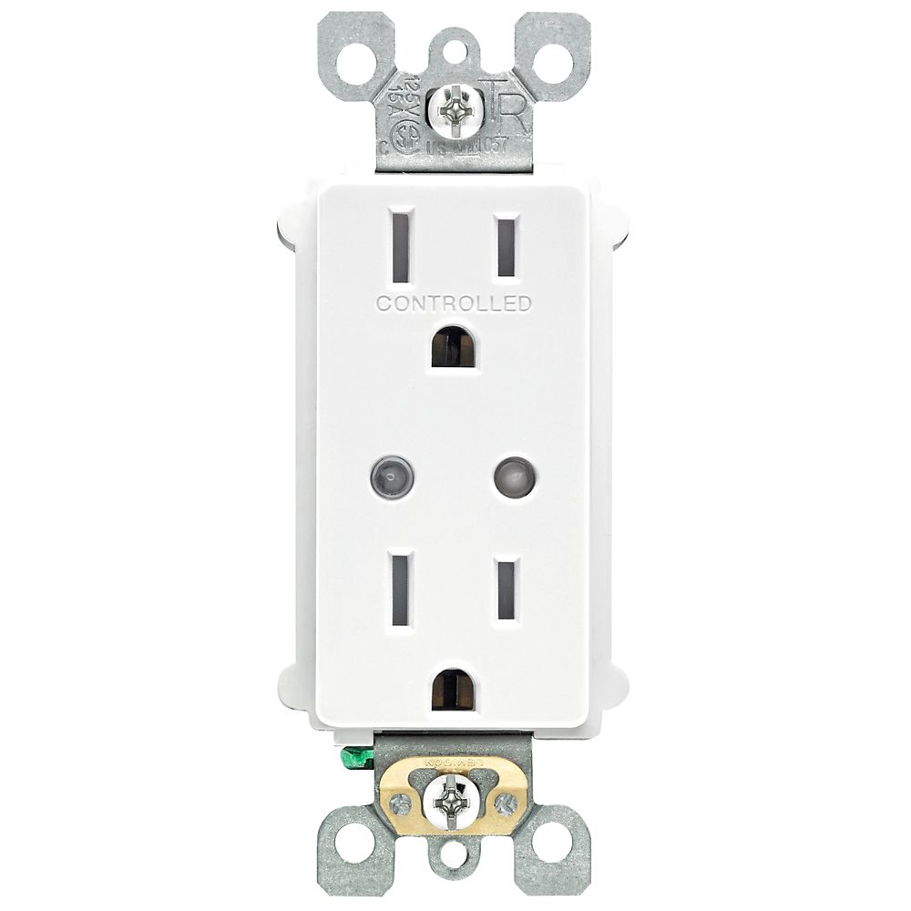 Z-Wave, Wink Compatible Receptacle, white