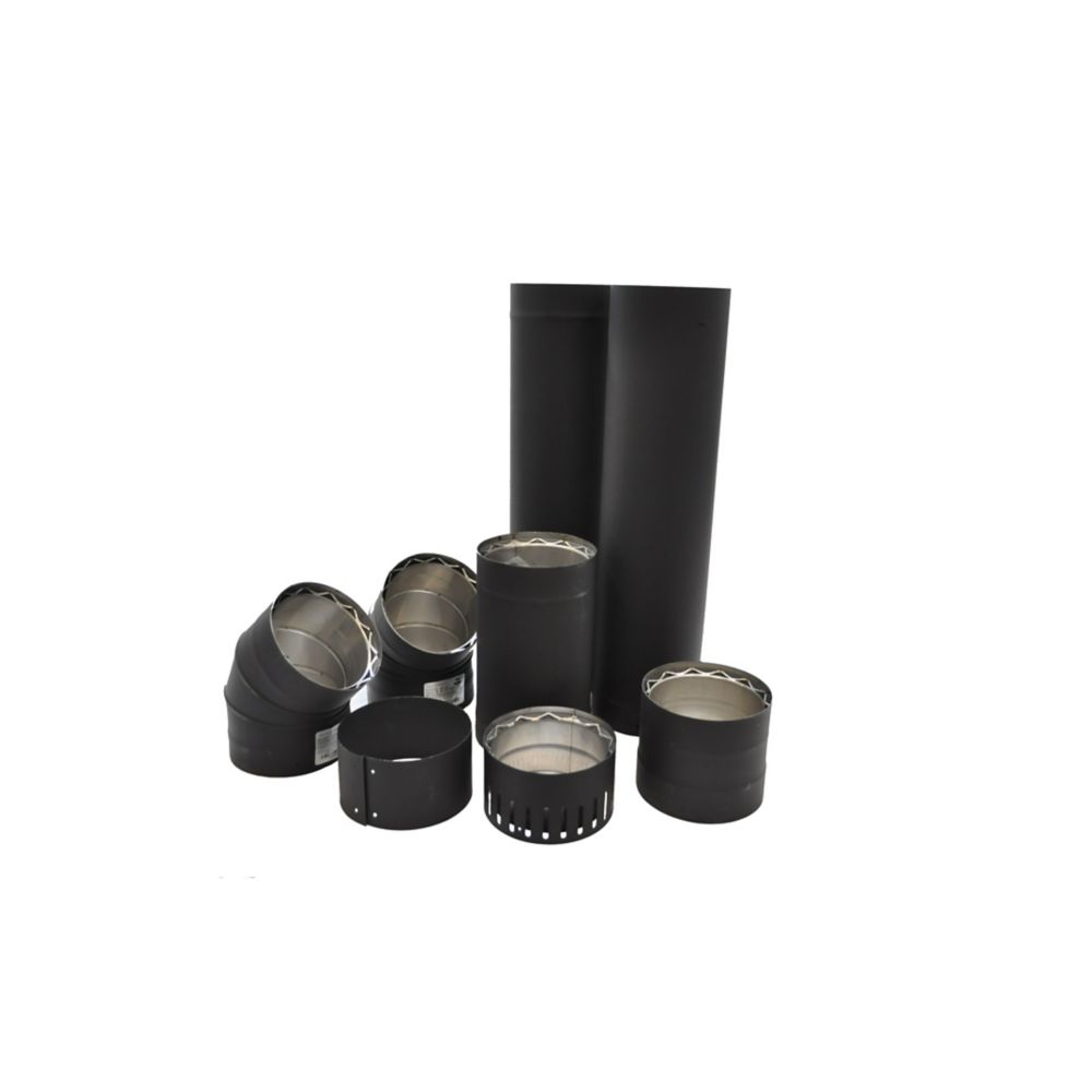 6 Inch Double Wall Pipe Kit - To The Wall