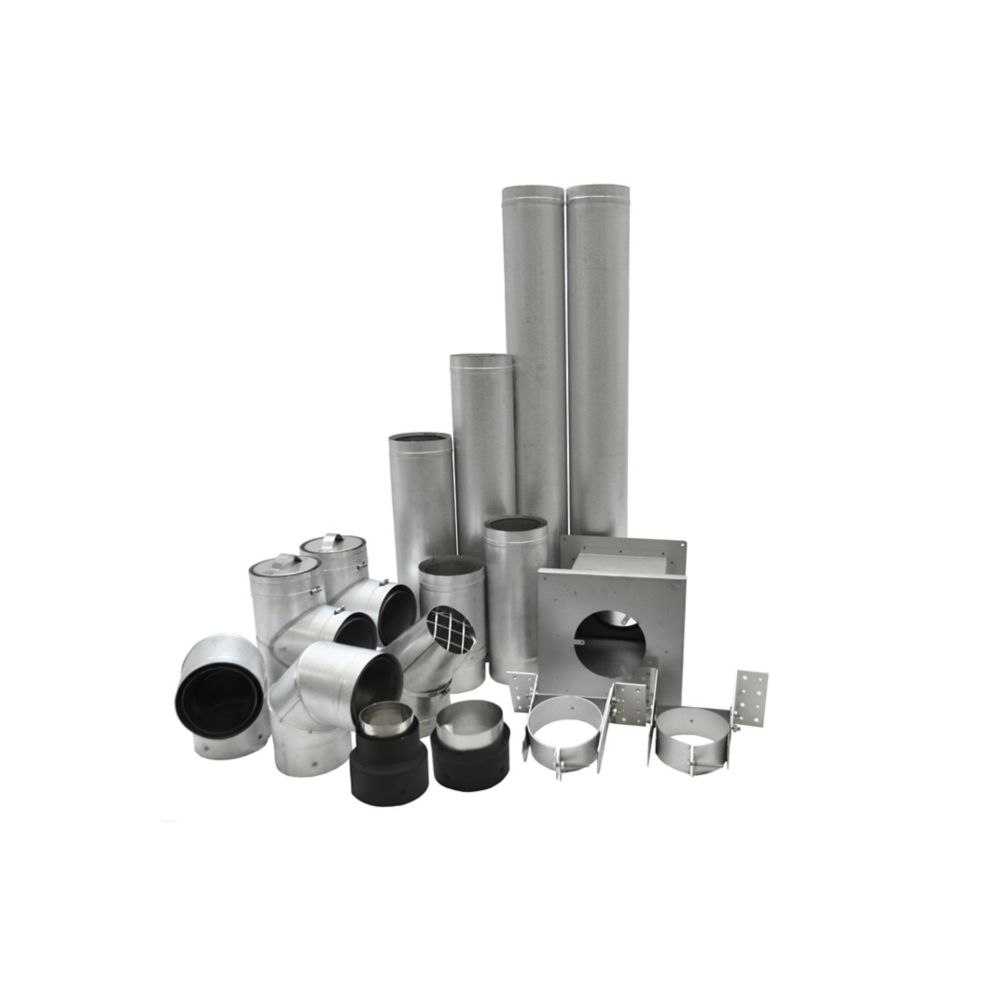 4 Inch  Pellet Vent Kit For Basement Installation