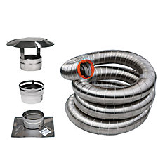 25 Feet. Stainless Flex Liner Kit For Inserts  (6 Inch )