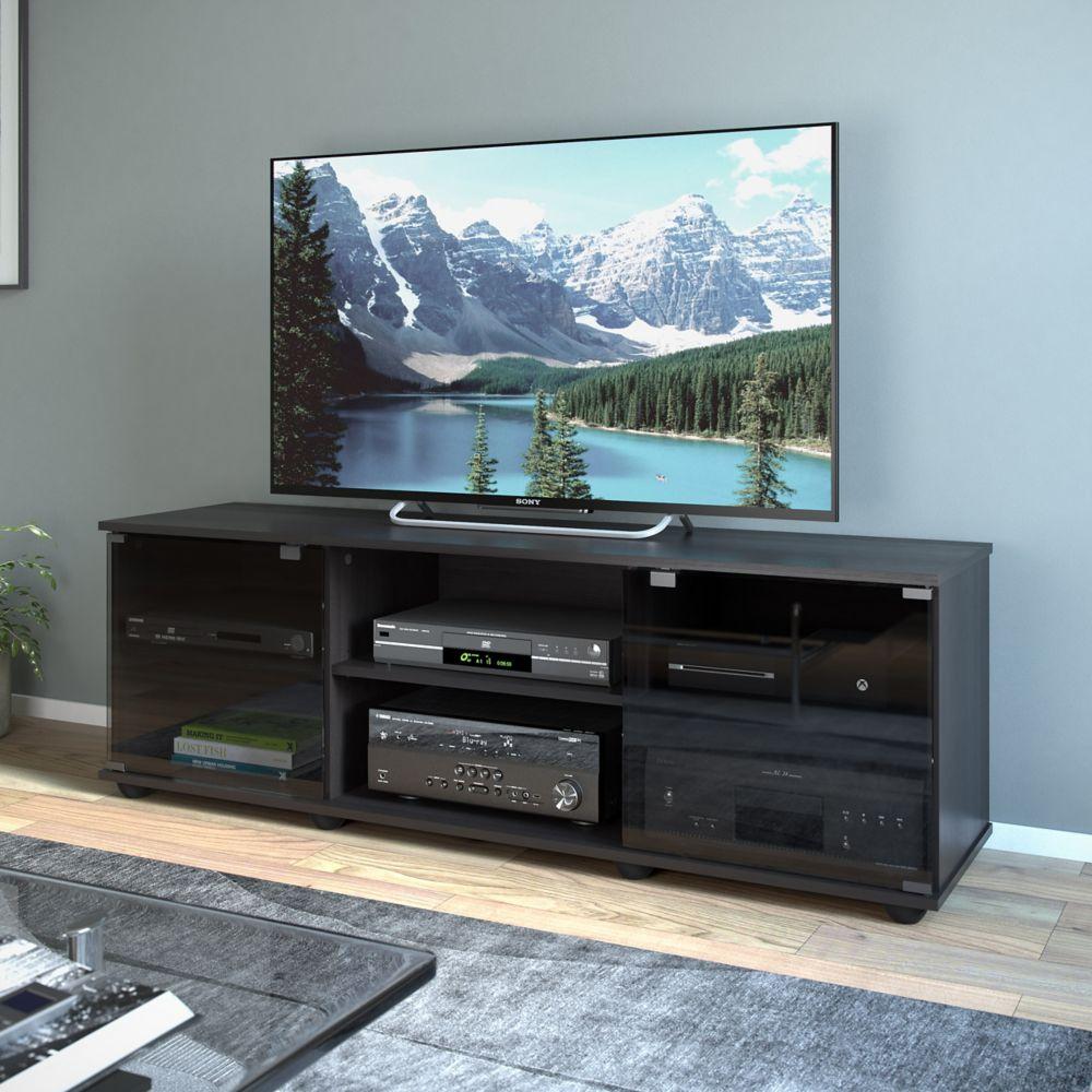 "E-0062-BF Fiji 60"" TV / Component Bench in Ravenwood Black"
