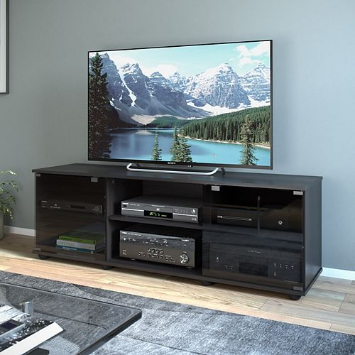 Sonax Fiji 60-inch x 15.75-inch x 19.75-inch TV Stand in Ravenwood Black