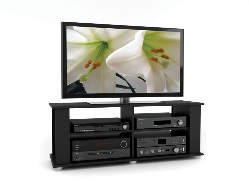 Fillmore 48-inch x 18-inch x 15-inch TV Stand in Black