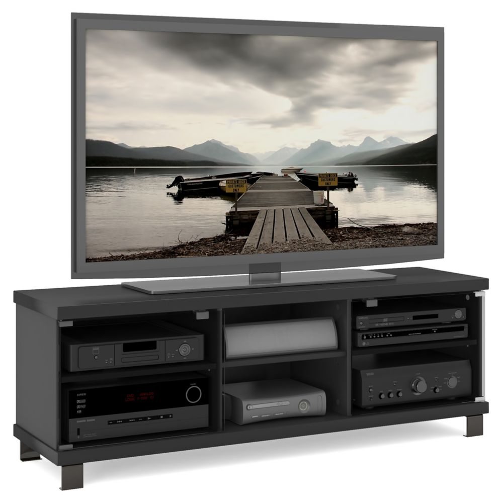 HC-5590 Holland 59 inch TV / Component Bench in Midnight Black