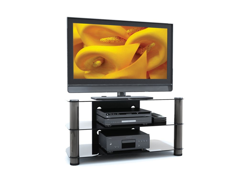 "NY-9424 New York 42"" Metal and Glass TV Stand"