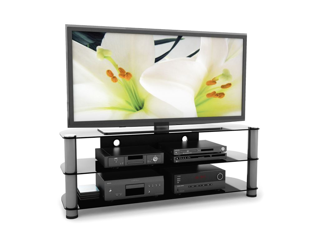 "NY-9584 New York 58"" Metal and Glass TV Stand"