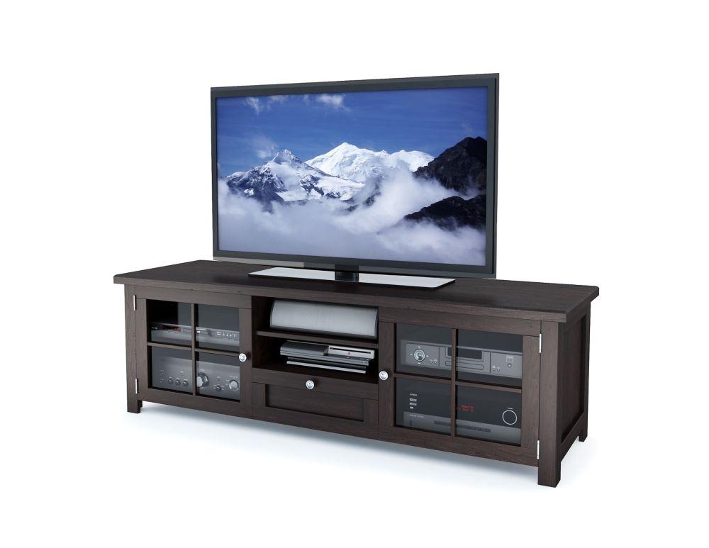 Sonax B-098-BAT Arbutus 63 inch Dark Espresso Stained Wood Veneer TV Bench