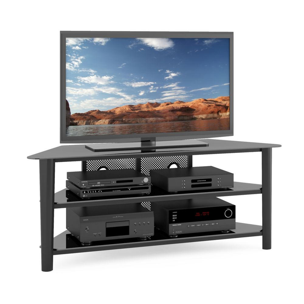TAL-604-T Alturas Black Stained Wood Veneer TV Stand